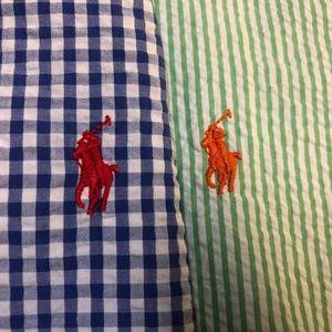 Lot of 2-Mens Ralph Lauren SS Button Front Classic